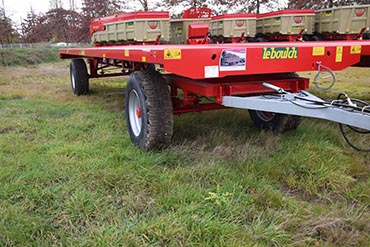 Leboulch Bale trailers Agricultural trailed bale wagon 10M