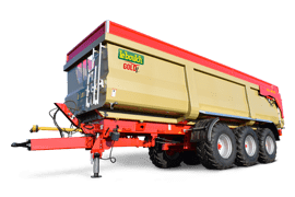 Our range of monocoque agricultural tipping trailers with drop sides