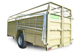 Our range of livestock trailers with reclining system or loading ramp