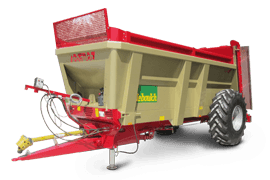 Our range of single or double-axle muck spreaders